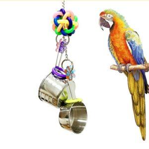 Spielzeug zum Klappern für Papagei & Co.