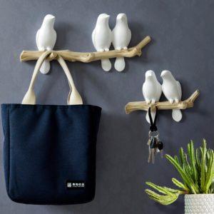 Garderobenhaken mit Vögeln