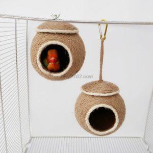 Kokosnuss Vogelspielzeug