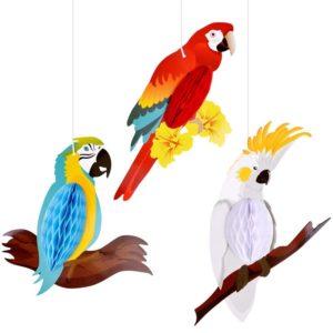 Wabenpapierfiguren Papagei