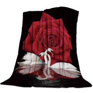 Kuscheldecke rote Rose