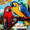 + DIY Set, 12 Motive, Plüschkissen, Punch Needle: Papagei, Agas, Wildvögel (ca. 43x43cm) Geschenk-Ideen   Deko-Kissen 11