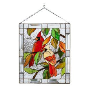 Fenster Deko mit Vogel