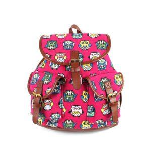Netter Kinderrucksack mit Eulen in pink