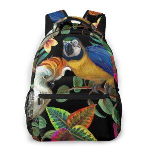 Rucksack mit Papagei und Kakadu