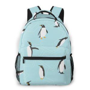 Hellblauer Pinguin Damenrucksack