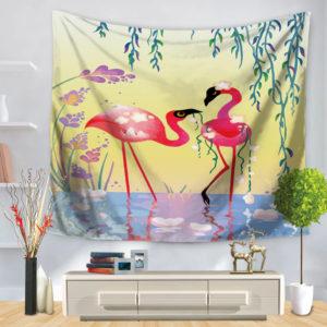 Flamingos in Love Tapisserie