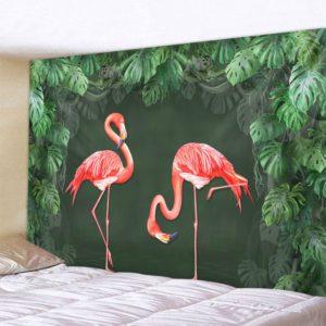 Flamingos im Dschungel, Wandteppich