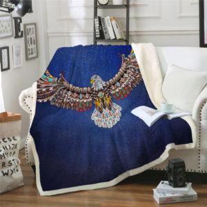 Kuscheldecke dunkelblau Adler