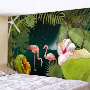 Mystische Flamingos im Dschungel
